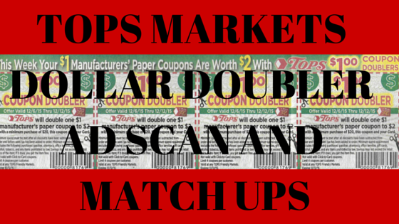 DOLLAR DOUBLERS AD SCAN FOR TOPS MARKETS 10/2-10/8