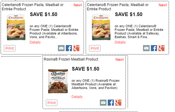 graphic about Safeway Printable Coupons titled Wonderful Rosina and Celentano Printable discount coupons !!!
