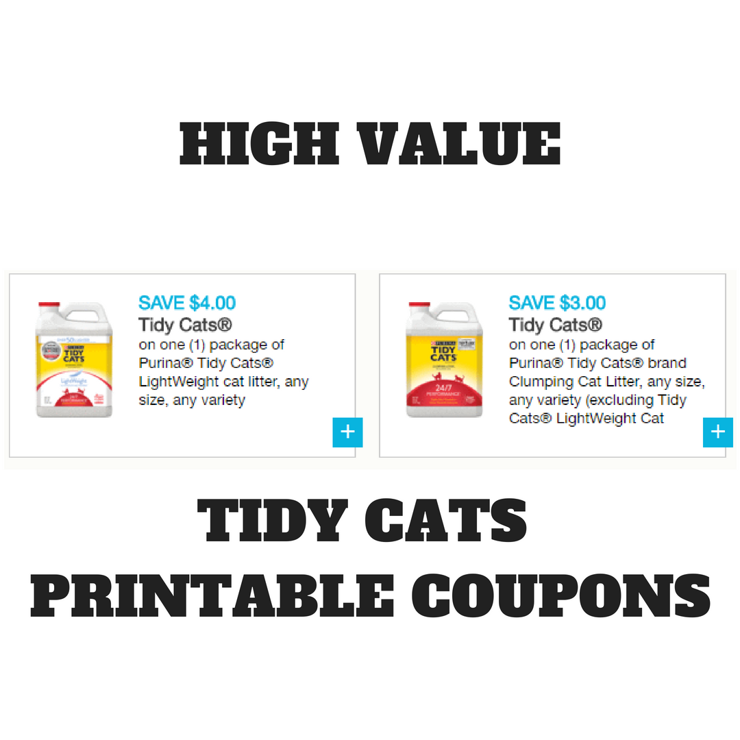 photo relating to Cat Litter Printable Coupons identified as Substantial Worth Tidy Cats Discount coupons + Promotions at Aim , Tops