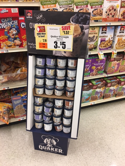 graphic relating to Quaker Printable Coupons known as Tops Marketplaces - Quaker Right away Oats as small as $.67 with fresh