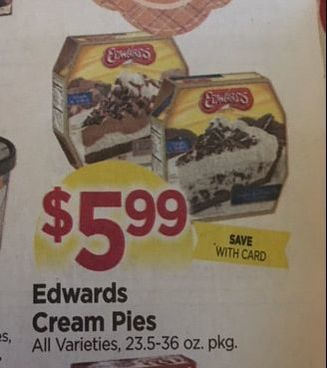 image relating to Edwards Pies Printable Coupons named Clean Edwards Pie printable coupon and package deal at Tops