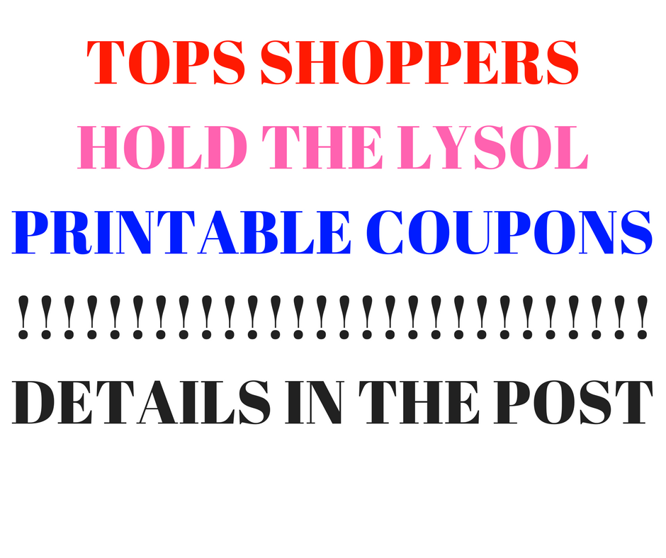 photo relating to Lysol Coupons Printable titled TOPS Clients Maintain THE LYSOL PRINTABLE Discount codes FREEBIE