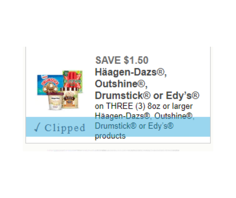 photograph about Haagen Dazs Printable Coupon referred to as Clean Uncommon Ice Product Printable Coupon Edys, Outshine